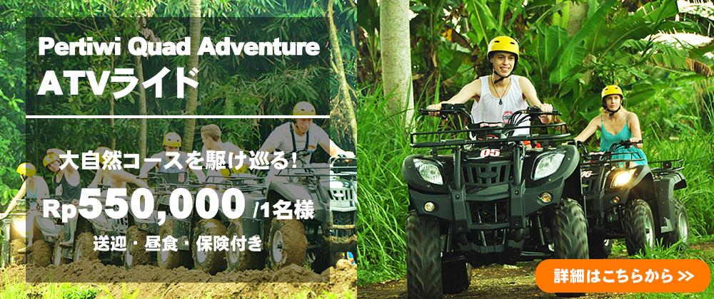 バリ島 Pertiwi Quad Adventure ATVライド
