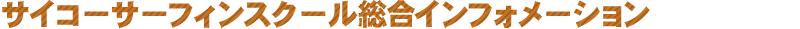 サイコ‐サーフ インフォメーション