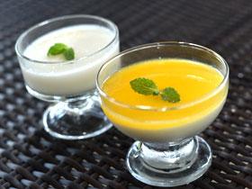 マンゴーゼリー、杏仁豆腐