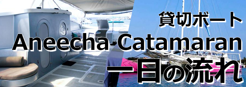 トキメキバリ島観光 厳選 Aneecha Catamaran クルーズ 一日の流れ