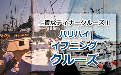 トキメキバリ島観光 厳選クルージング バリハイ アリストキャット イブニングクルーズ