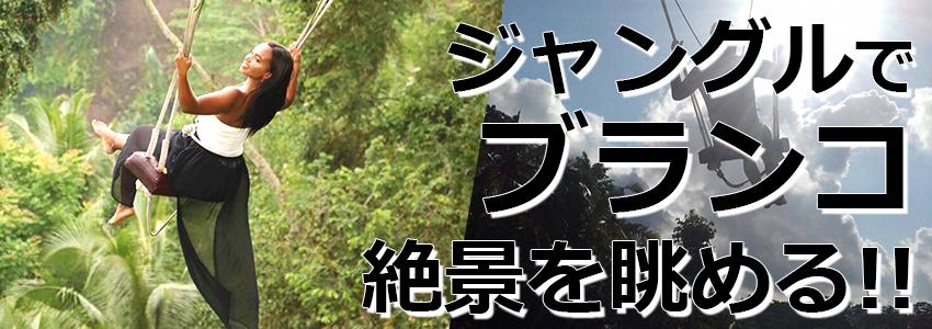 トキメキバリ島観光 厳選アクティビティ バリ スウィング 特徴