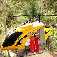 トキメキバリ島観光 バリ スウィング ヘリコプター
