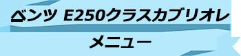 トキメキバリ島観光 厳選カーチャーター ベンツ E250クラスカブリオレ メニュー