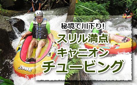 トキメキバリ島観光 厳選アクティビティ キャニオンチューブ