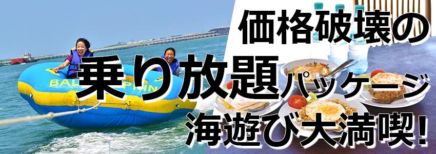 トキメキバリ島観光 厳選マリンスポーツ マリンスポーツ乗り放題+ランチ食べ放題 特徴