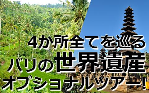 バリ島 トキメキバリ島観光 厳選オプショナルツアー バリの世界遺産 完全制覇ツアー 特徴