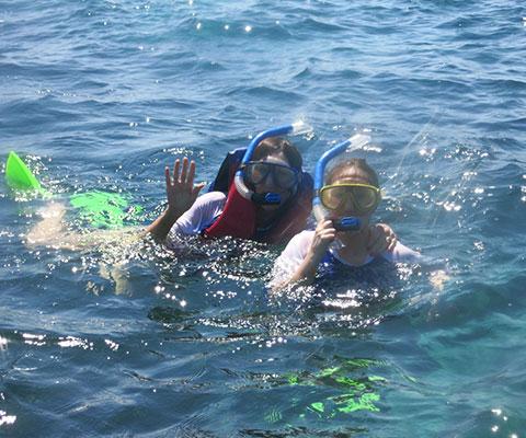 海の中を気軽に楽しめるシュノーケリング