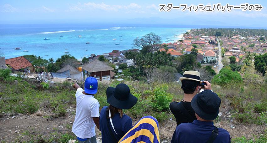 レンボンガン島の村をヴィレッジツアーで巡ります