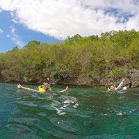 バリ島 ヌサペニダ島とチェニガン島の間