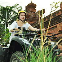 トキメキのバリ島観光 Pertiwi Quad Adventure ATVライド 伝統的な村