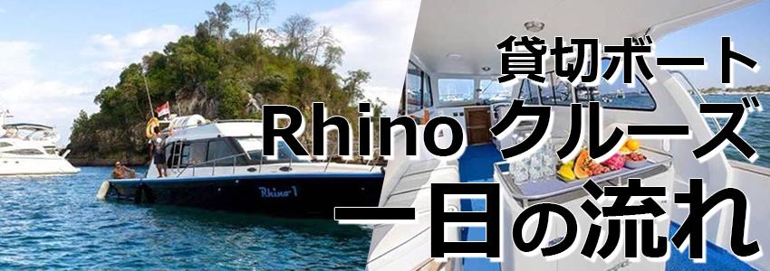 トキメキバリ島観光 厳選ボートチャーター Rhino クルーズ 一日の流れ