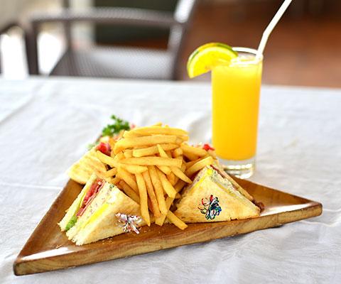 ライトミール付きプランのサンドイッチ