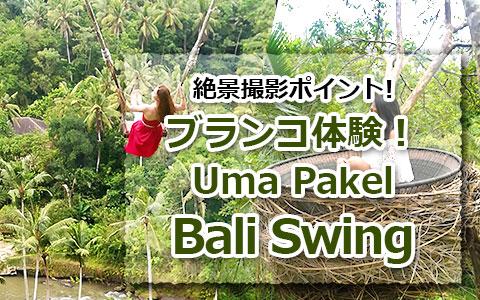 トキメキのバリ島観光 厳選アクティビティ Uma Pakel Bali Swing