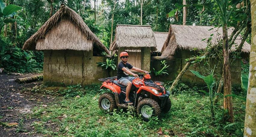 バリ島ならでは風光明媚な景色を楽しめるコース