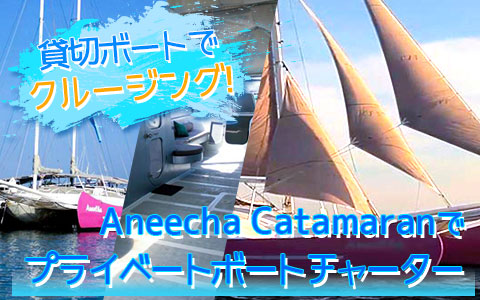 至福のバリ島観光 厳選 Aneecha Catamaran クルーズ