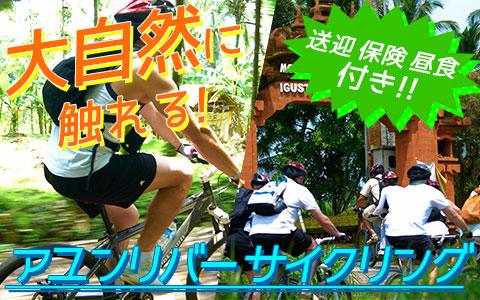 至福のバリ島観光 厳選アクティビティ アユンリバー サイクリング