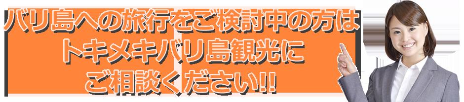 トキメキバリ島観光 ご相談ください!