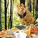 ライオンレストランで昼食