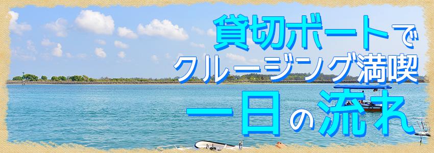 至福のバリ島観光 厳選マリンスポーツ レンボンガン島往復貸切ボート 一日の流れ