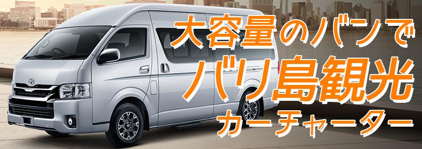 至福のバリ島観光 厳選カーチャーター トヨタ ハイエース 特徴