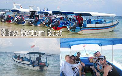 至福のバリ島観光 厳選マリンスポーツ グラスボトムボート 画像
