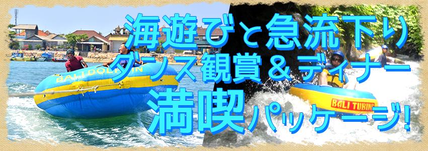 至福のバリ島観光 厳選マリンスポーツ マリンスポーツ乗り放題+ランチ食べ放題+チュービング+レゴンダンス+ディナー 特徴