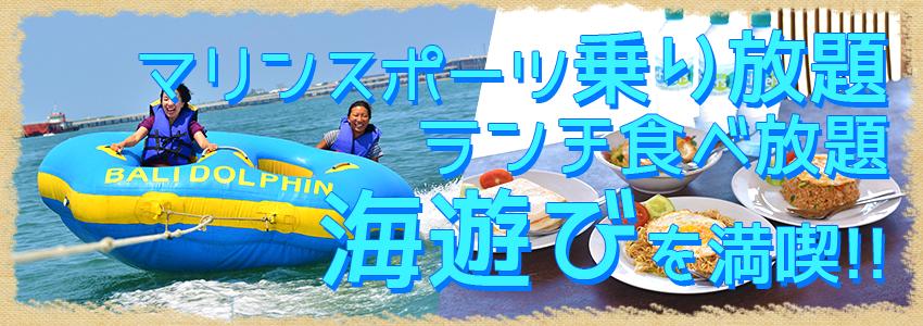至福のバリ島観光 厳選マリンスポーツ マリンスポーツ乗り放題+ランチ食べ放題 特徴