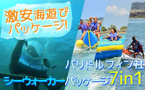 至福のバリ島観光 厳選マリンスポーツ シーウォーカー・パッケージ7in1 バリ ドルフィン社