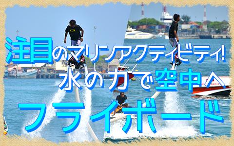 至福のバリ島観光 厳選マリンスポーツ フライボード 特徴