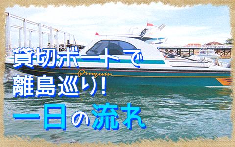 至福のバリ島観光 厳選レンボンガン島 3つの離島巡り レンボンガン島、ペニダ島、チェニガン島 一日の流れ