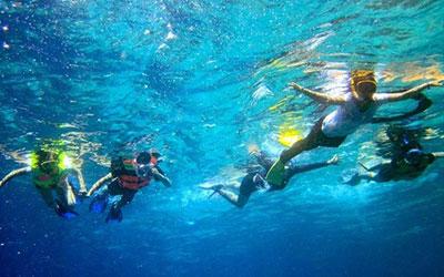 至福のバリ島観光 厳選レンボンガン島 シュノーケリング 画像