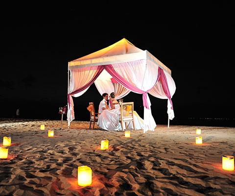 美味しい本格フレンチディナーとロマンチックな景色