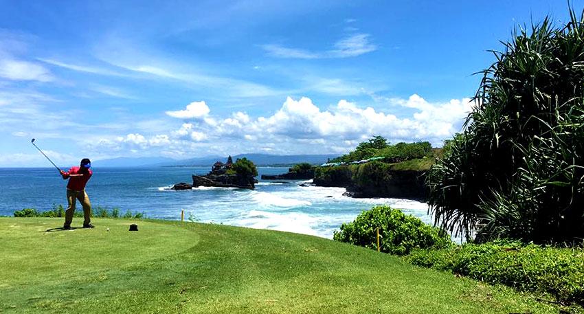 海にを眺めながらプレイを楽しめます