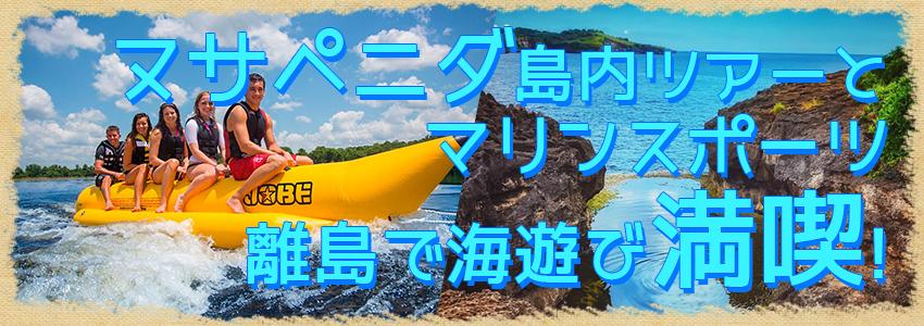 至福のバリ島観光 厳選レンボンガン島 ヌサペニダアイランドツアー+マリンスポーツ 特徴