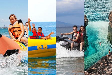 至福のバリ島観光 厳選レンボンガン島 アイランドツアー+バナナ+ドーナツ+ジェットスキー 画像