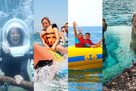 至福のバリ島観光 厳選レンボンガン島 アイランドツアー+シーウォーカー+マリンスポーツ2種類 画像