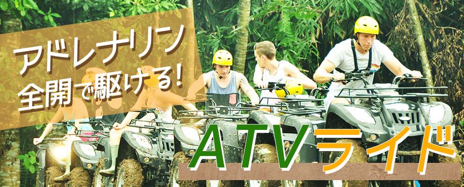 至福のバリ島観光 厳選アクティビティ Pertiwi Quad Adventure ATVライド