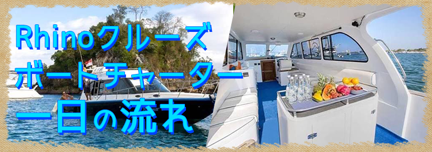 至福のバリ島観光 厳選ボートチャーター Rhino クルーズ 一日の流れ
