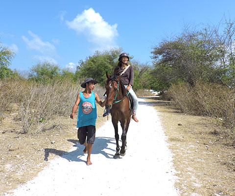 ゆっくりと乗馬を楽しめます