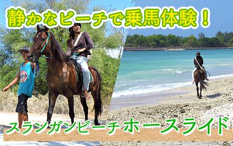 至福のバリ島観光 厳選 スランガンビーチ ホースライド