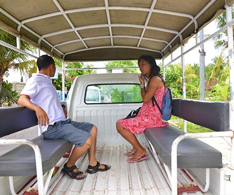 レンボンガン島散策のアイランドツアー