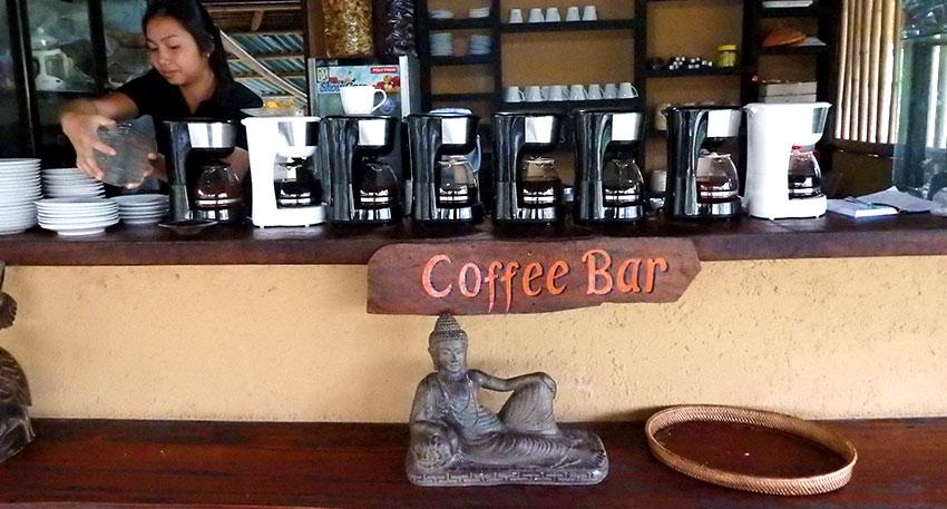 コーヒーの試飲ができます