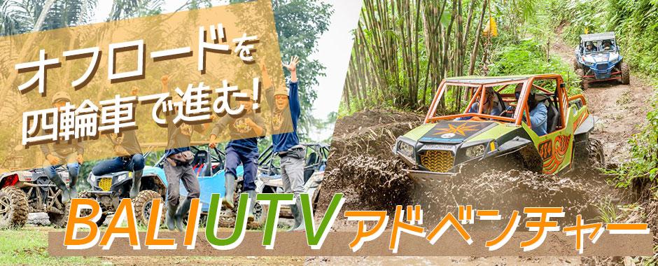 至福のバリ島観光 厳選アクティビティ BALI UTVアドベンチャー