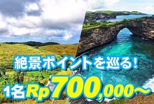 バリ島 厳選レンボンガン島 ヌサペニダアイランドツアー