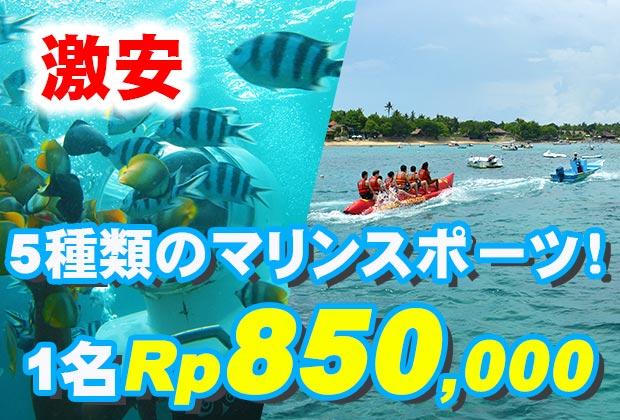 バリ島 観光レンボンガン島でシーウォーカー&海遊び!トレジャーハント with シーウォーカー