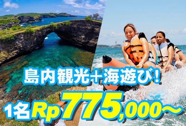 バリ島 観光離島の自然と海を満喫!ヌサペニダアイランドツアー+マリンスポーツ